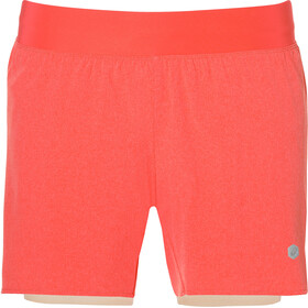 asics 2-N-1 5.5In - Short running Femme - orange